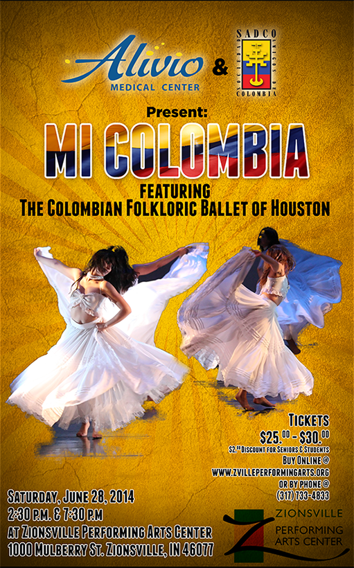 The Colombian Folkloric Ballet Mi Colombia Houston 2013