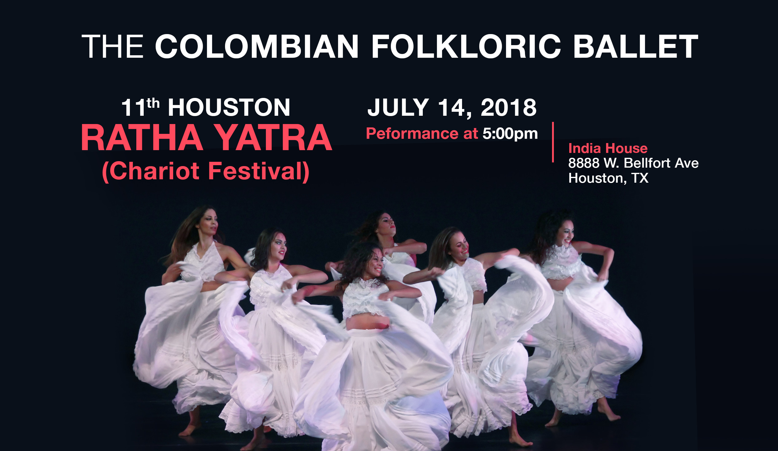 The Colombian Folkloric Ballet—11th Houston Ratha Yatra (Chariot Festival) 2018