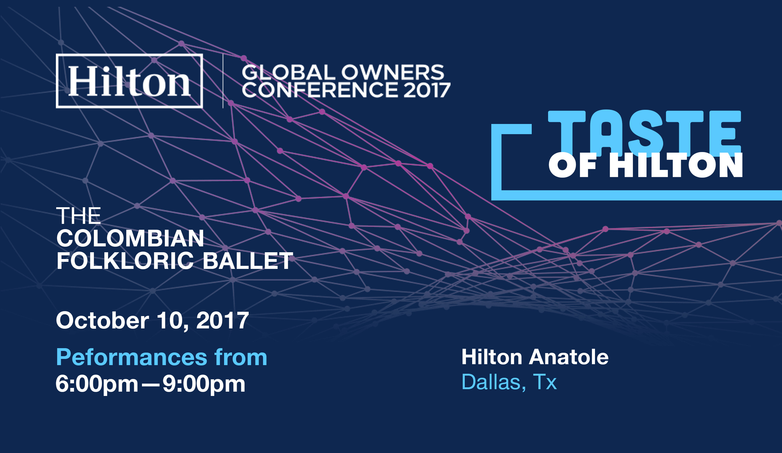 The Colombian Folkloric Ballet—Hilton Global Owners Conference 2017-Taste of Hilton